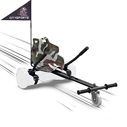 MARKBOARD Hoverkart Sitzscooter Gokart, Hovergokart, Hovercart, Sitz für Self Balancing Scooter, Kompatibel mit 6,5zoll 8,5zoll und 10 Zoll Scooter (Armeegrün)