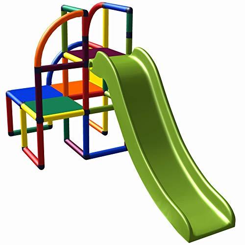move and stic 6536 - Spielturm Olaf Kletterturm mit Rutsche für Kleinkinder für Kinderzimmer Spielzimmer oder Garten