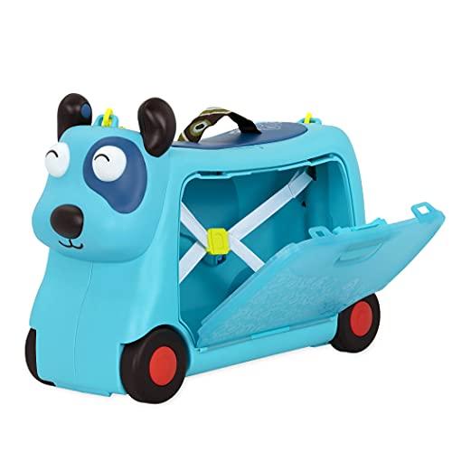 B. toys Kinder Handgepäck Koffer Hund – Reisekoffer, Kinderkoffer mit Lichtern und Tönen zum Rollen, Draufsitzen – für Mädchen und Jungen ab 2 Jahren