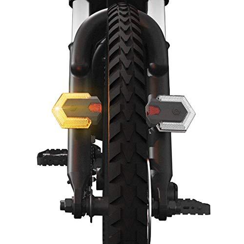QIC Fahrrad-Rücklicht, Fahrrad-Kontrollleuchte, 85LM LED-Fahrrad-Blinker vorne / hinten IPX6 Wasserdichtes Warnlicht mit Fernbedienung, USB-Lade-Fahrrad-Rücklicht für das Radfahren im Freien