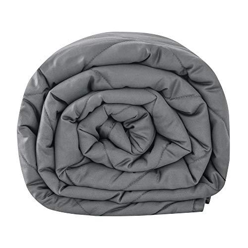Leefun Gewichtsdecke 135x200CM,8KG Therapiedecke, 100% Baumwolle 7 Schichten Schwere Decke für Erwachsene, Gegen Schlafstörung und Stress, Weighted Blanket für 75-85kg Personen