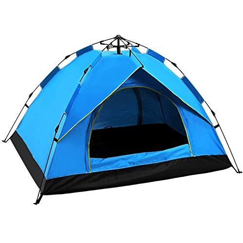 Yuanj Zelt 3/4 Personen, Wurfzelt Zweischichtiges Kuppelzelt, Ultraleichte Camping Zelt, Outdoor/Beach Wurfzelt mit Tragetasche (200 * 200 * 145 cm)