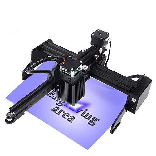 CNC Maschine Laser Graviermaschine mit 22X12CM Arbeitsbereich Super einfach zu installieren und zu bedienen für Anfänger zum Schnitzen und Schneiden von Holzplastik (3W)