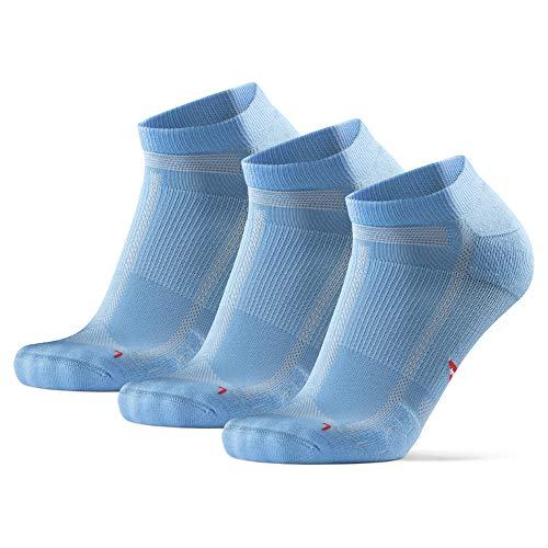 DANISH ENDURANCE Long Distance Low-Cut Running Socks for Men & Women (Hellblau, 35-38)
