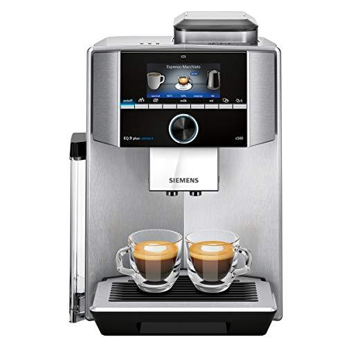 Siemens EQ.9 Plus Connect s500 TI9553X1RW Kaffeevollautomat mit Touchscreen - für zwei Tassen gleichzeitig - Barista-Modus - Farbe: Edelstahl