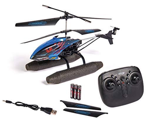 Carson 500507148 Easy Tyrann 290 Waterbeast – Ferngesteuerter Outdoor Helikopter, RTF, wasserfest, mit großen schwimmfähigen Kufen Wasser, für Kinder ab 12 Jahren