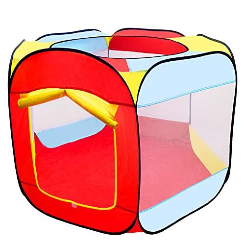 MAIKEHIGH Bällebad Spielzelt für Kinder, 6-seitig Faltbare Bällebad Babyspielplatz Zelt tragbare Sechseck Pop-Up Ball Pool für Kleinkinder Indoor / Outdoor-Spielhaus (Bälle Nicht Inbegriffen)