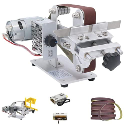 Huanyu Bandschleifer Mini Schleifmaschine Elektrische bandschleifmaschine DIY Schleifwerkzeug für Messer Holz mit 895/997 Motor (997 Motor, Leistung der Batterie: 480W)