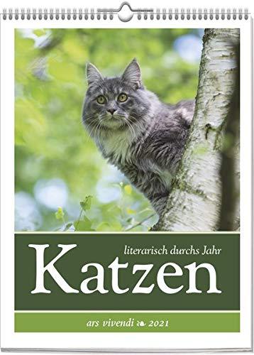 Katzen - literarisch durchs Jahr 2021: Wochenkalender mit Fotografien und Zitaten - Katzenkalender 2021