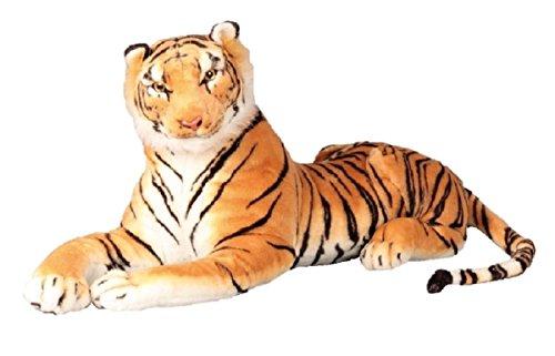 Brauner Tiger XXL Plüschtier 110 cm Kuscheltier 1,70m bis Ende Schwanz Stofftier Raubkatze braun