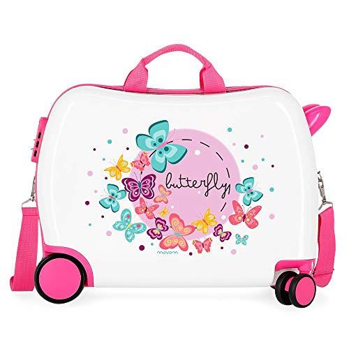 Movom Happy Time Kinder-Koffer Mehrfarbig 50x38x20 cms Hartschalen ABS Kombinationsschloss 34L 2,1Kgs 4 Räder Handgepäck