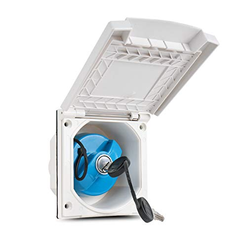 Wasseranschlussdose   abschließbar   weiß   inkl Dichtung & Schrauben   40mm