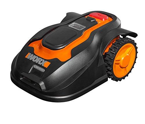 Worx Landroid Rasen Mähroboter M800i bis 800 M2, App Programmierung, Multi Zonen, WG757E, schwarz, orange, 56 W, 240 V