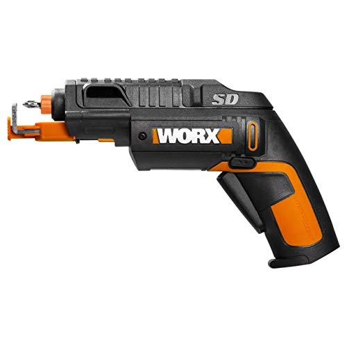 WORX WX255 Akkuschrauber mit automatischem Wechsel des Bit-Magazins & optionalem Schraubenhalter für schnelles, müheloses Schrauben – 4V Schrauber mit Li-Ion Akku inkl. 5 Bits & 1 Vorbohrer