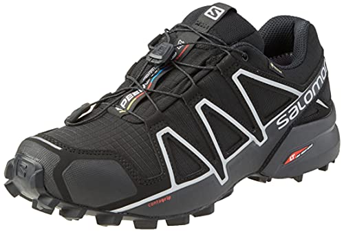 Salomon Herren Speedcross 4 Gtx Schuhe, Schwarz Black Black Silver Metallic X, 48 EU