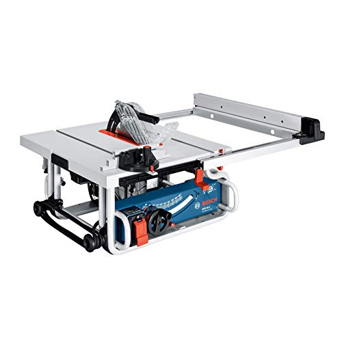 Bosch Professional Tischkreissäge GTS 10 J (Sägeblatt-Ø: 254 mm, 1.800 Watt, inkl. Winkelanschlag, Parallelanschlag, Absaugadapter, Sägeblatt, Schiebestock, im Karton)