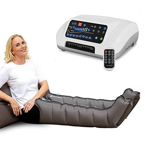 Venen Engel ® 8 Premium Massage-Gerät mit Beinmanschetten, 8 deaktivierbare Luftkammern, Druck & Zeit unkompliziert einstellbar, 6 Massage-Programme