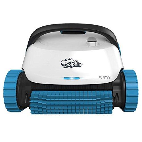 Dolphin S300i App Steuerbarer Poolroboter mit Caddy weiß/blau