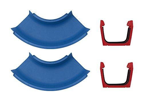 AquaPlay 102 - Kurve 2x - Erweiterungsset für AquaPlay Wasserbahnen, 2 x Kurvenelement, 2 x Verbindungsklammern, 4 x Gummidichtung, Wasserstraßen Zubehör
