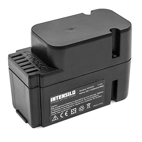 INTENSILO Akku kompatibel mit Worx Landroid M1000 WG791E.1, M1000i WG796E.1, M500 WG754E Mähroboter ersetzt WA3225, WA3565 - (Li-Ion, 2500mAh, 28V)