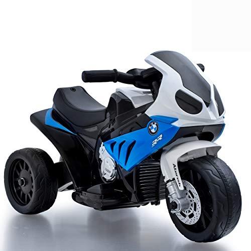 Daliya Elektro Kindermotorrad Kinderfahrzeug Elektro-Dreirad mit Akku Kinder Elektromotorrad S1000RR Lizenz Spielzeug (Blau)