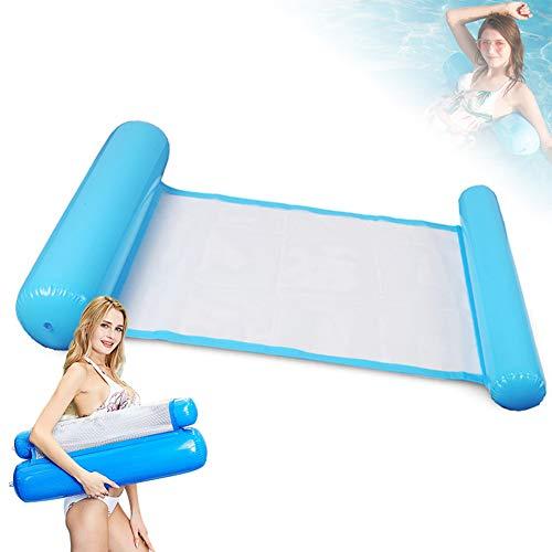 JuguHoovi Wasserhängematte,Luftmatratze Pool 4-in-1 Aufblasbare Wasserspielzeug,Wasserhängematte mit Netz,Luftmatratze Wasser hängematte für Sessel Matratzen Sitz Schwimmmatte