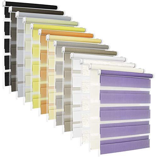 TEXMAXX® Doppelrollo Klemmfix ohne Bohren - 120 x 130cm ( Stoffbreite 116 cm ) - in Weiss - inkl. Zubehör - Rollo - Rollos für Fenster ohne Bohren (RDN120x130-01)