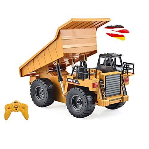 HSP Himoto RC Ferngesteuerter Kipper Tieflader Dump Truck 2.4GHz Edition, kippbarer Ladefläche und vieles mehr, Komplett-Set inkl. Fernsteuerung, Akku und Ladegerät!!