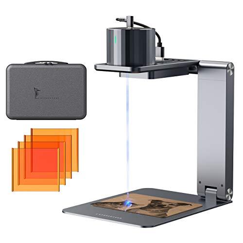LaserPecker L1Pro Laser Graviermaschine Tragbarer Lasergravierer Gravur Gerät Lasern mit Elektrische Standfuß Ständer Kasten Gravieren Holz Leder