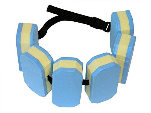 Best Sporting Schwimmgürtel mit 6 Auftriebskörpern, Verstellbarer Nylongurt, blau