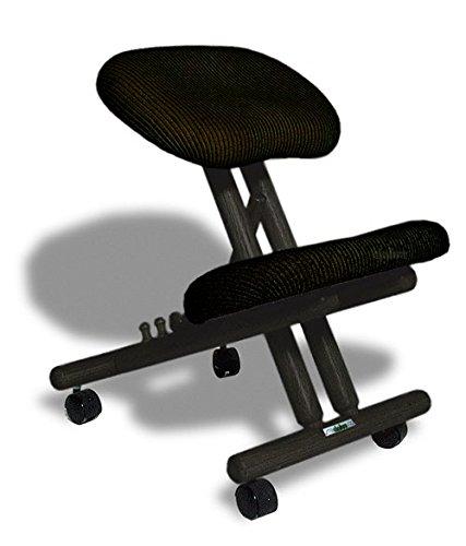 cinius Ergonomischer Stuhl Orthopädischer Kniestuhl Computerstuhl Kniehocker Stoff Schwarz Farbe