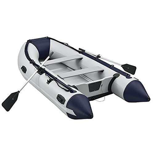 ArtSport Schlauchboot 3,20 m für 4 Personen mit 2 Sitzbänke & Aluboden – Paddelboot mit Paddel, Pumpe, Tasche & Reparaturset – Angelboot aufblasbar