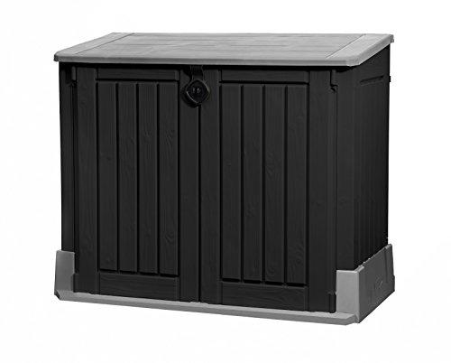 Koll Living Garden Mülltonnenboxen von 848- bis 2020 Liter wählbar - aus Wetter- & UV-festem Kunststoff - mit Gasdruckfedern und Belüftungsystem (Typ 1-845 Liter - anthrazit)
