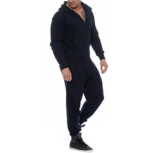 Fabrica 89D23 Herren Jogging Anzug Trainingsanzug Sweatshirt Navy Gr. S