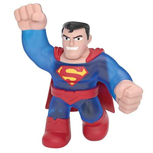 Heroes of Goo Jit Zu, super Stretchy Action-Figur mit einzigartiger Füllung, lizenzierte DC-Edition: Superman Rot / Blau.