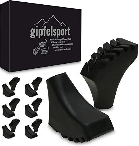 gipfelsport Nordic Walking Gummipuffer, Schuhe, 12 Stück, 6 Paare