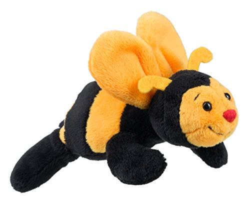 Schaffer 3546 Sabiene Biene Plüschtier Magnet, gelb-schwarz, 12 cm