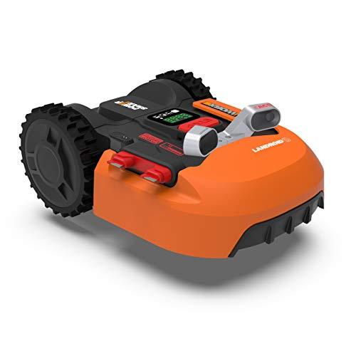 WORX Landroid WR900E Mähroboter – Akkurasenmäher für kleine Gärten mit bis zu 500m² – Selbstfahrender Rasenmäher für einen ordentlichen Rasenschnitt – Inklusive Anti-Kollisions-System
