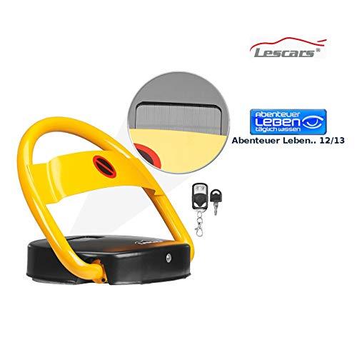 Lescars Parksperre: Automatische Solar-Parkplatzsperre mit Fernbedienung (Parkplatzsperre elektrisch Solar)