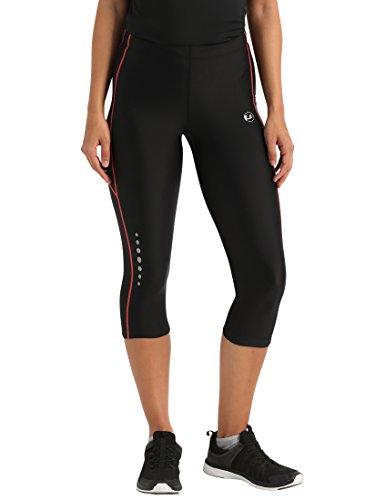Ultrasport Damen Laufhose 3/4 lang, black dubarry, XS, 10146