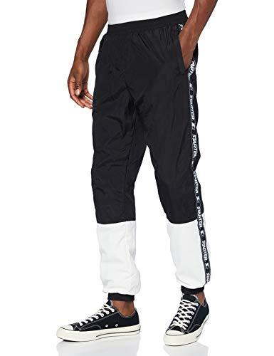 STARTER BLACK LABEL Herren Two Toned Jogging Pants Trainingshose, Black/White, XXL