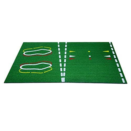 XY-golf stuff Bequem Golfunterricht Übungsmatte Innen- und Außenmatte Tragbare Außensportarten Golftraining Schlagen Rasenmatte Für Zuhause Hinterhof dauerhaft (Farbe : Grün, Größe : 26 * 36cm)