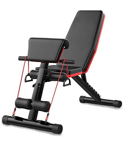 ARUNDO Verstellbare Hantelbank zum Gewichtheben Ganzes Training im Körper Körpertraining Heimtraining Verwenden Sie die Mehrzweck-Übungsbank Incline Decline