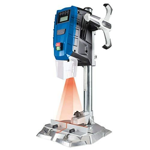 SCHEPPACH DP55 Tischbohrmaschine Bohrmaschine 13 mm LED Laser | 710 W | Drehzahl: 500 – 2600 min-1 | Bohrfutterspannbereich: 1,5 – 13 mm | Digitaldisplay | Laser
