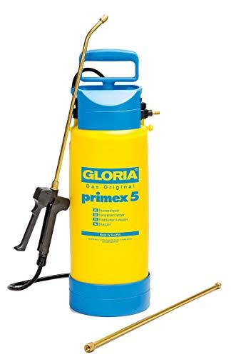 GLORIA Drucksprüher Primex 5 Unkrautspritze,5L, inkl. 0,5m Messing-Verlängerungsrohr, Fußring u. Kompressoranschluss