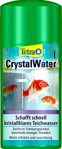 Tetra Pond CrystalWater - Wasserklärer gegen Trübungen für kristallklares Wasser im Gartenteich, 500 ml Flasche