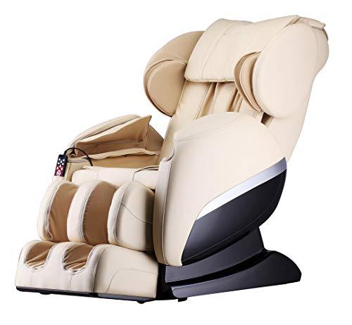 Home Deluxe - Massagesessel mit Wärmefunktion - Siesta beige V2 - Shiatsu Massage, 32 Luftkissen mit veränderbaren Druck und viele weitere Massageprogramme
