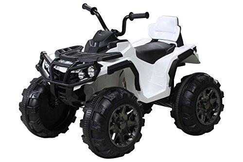 Actionbikes Kinder Elektro Quad Offroad 2 x 35 Watt (Weiß)