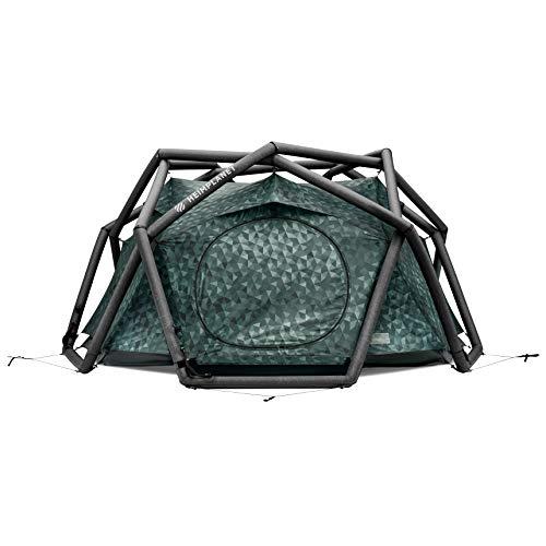 HEIMPLANET Original | THE CAVE 2-3 Personen Kuppelzelt | Aufblasbares Camping Zelt - In Sekunden errichtet | Wasserdichtes Außenzelt und Zeltboden - 5000mm Wassersäule | Keine Zeltstangen nötig | Unterstützt 1% For The Planet (Cairo Camo)