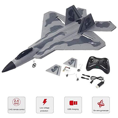 Shakala RC Flugzeug ferngesteuertes Flugzeug Elektrisches Flugzeug Geschenke F22 Modell Flugzeug Spielzeugdrohne EPP ferngesteuertes Flugzeug Modell für Erwachsene